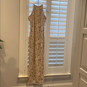 Long formal dress with beading